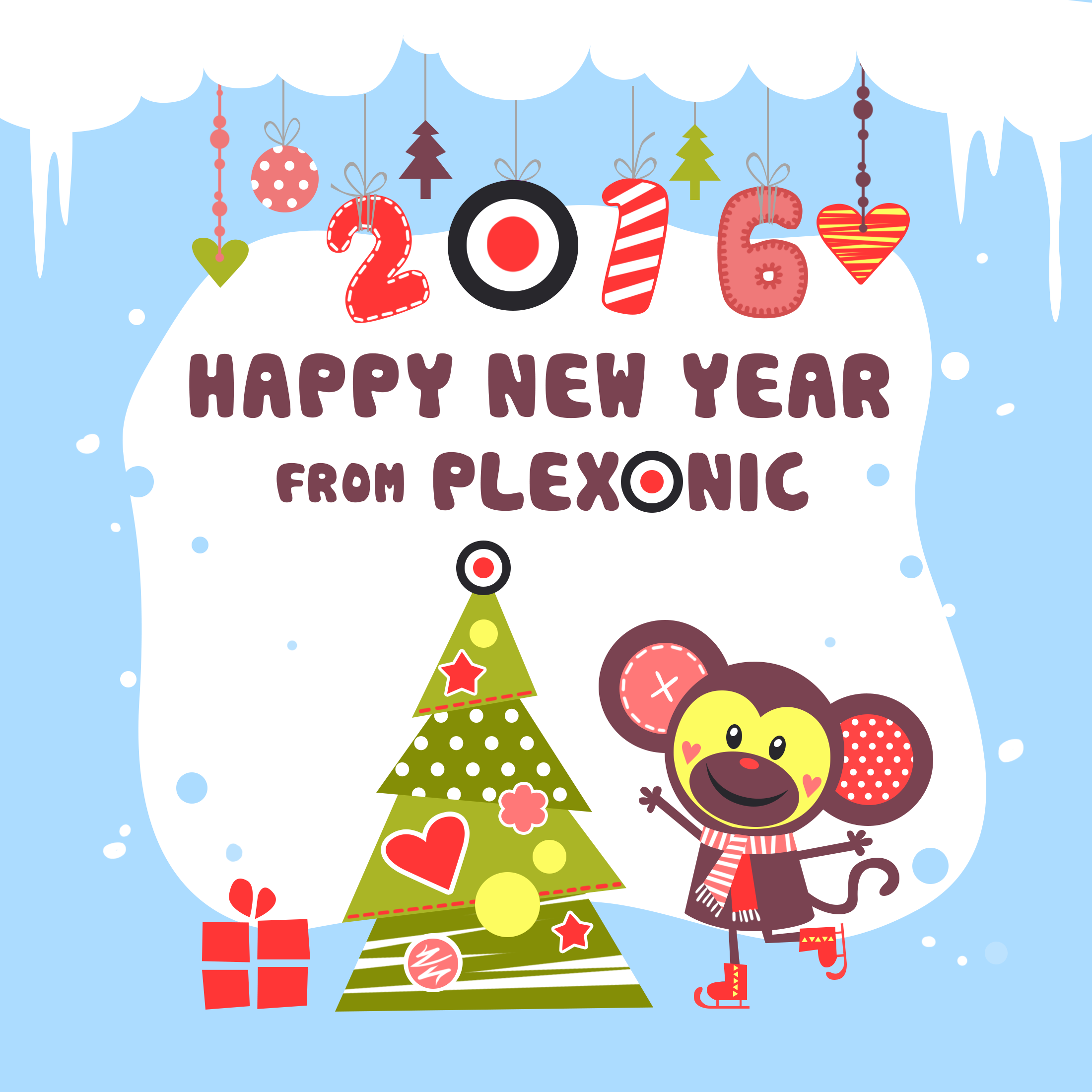 Greeting Card Happy New Year 2016 Plexonic Causal Games For Humans